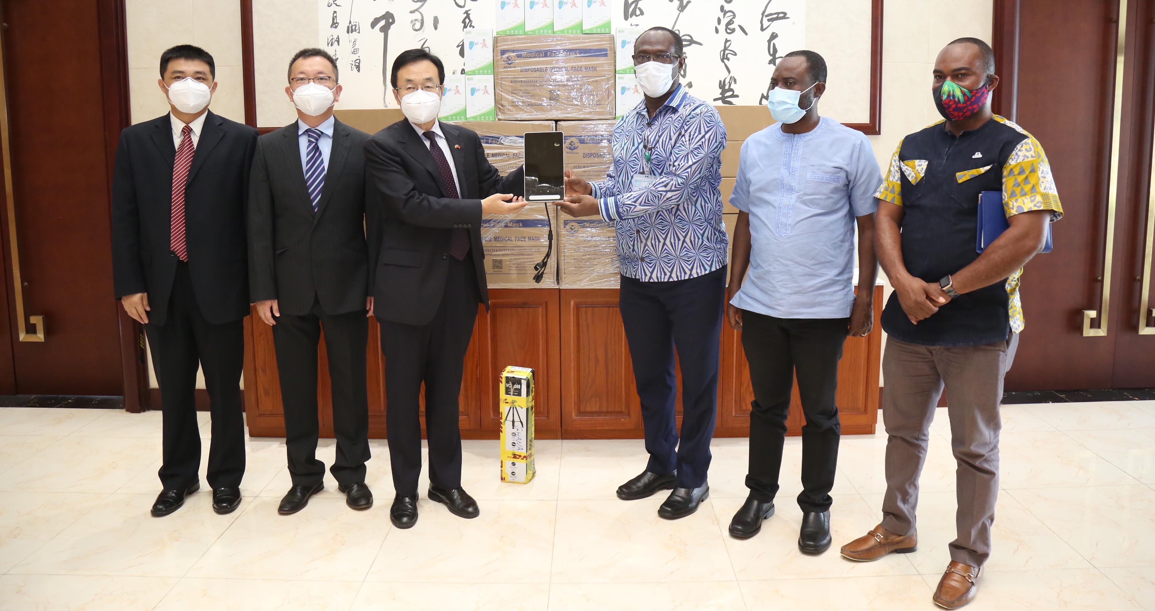 Chinese Embassy Donates PPE to GCAA